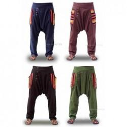 Pantalones Harem Lisos Algodon