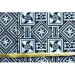 Telas africanas tapizar, colores blanco y negro