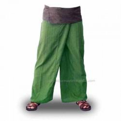 Pantalones tailandeses baratos, color verde