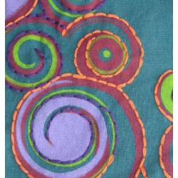 Pantalones afganos mujer, detalle de la tela