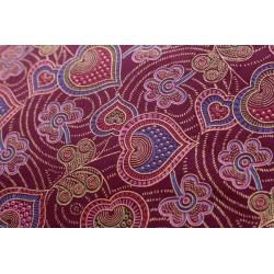 Telas Africanas de decoración, en color granate, la única disponible