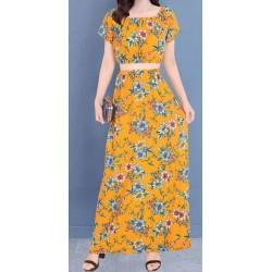 Vestidos largos por mayor, color amarillo