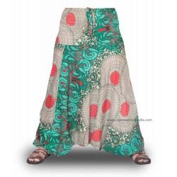 Pantalones cagones, estampados Hippies