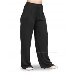 Pantalones rectos mujer, color negro