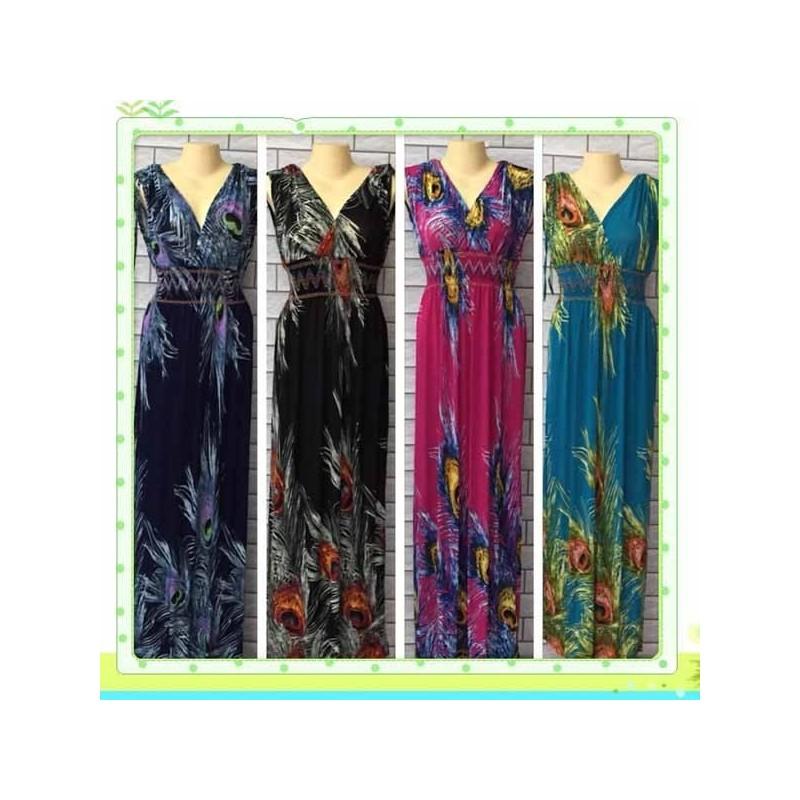 Vestidos de rayon largos